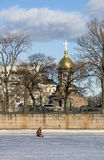 Shrine chapel of the Holy Trinity in St. Petersburg, embankment, Stock Photos