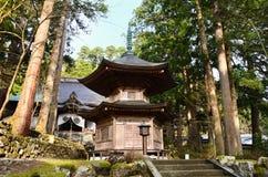 Old Shrine of Eiheiji temple, Fukui Japan. Old Zen temple Eiheiji's wooden shrine in the woods, Fukui prefecture Japan royalty free stock photos