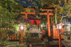 Shrine entrance in Kyoto old town Stock Photography