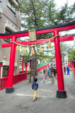 Shrine entrance, Mount Fuji 5th station, Japan Stock Photography