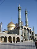 Shrine of Fatima Masuma. Golden dome over the shrine of Fatima Masuma in Qum, Iran Stock Images