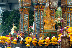 The shrine of the four-faced Brahma (Phra Phrom). Royalty Free Stock Photography