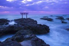 Free Shrine Gate At Daybreak Stock Photos - 37218783