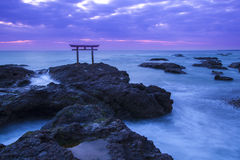 Shrine Gate at daybreak Stock Photos