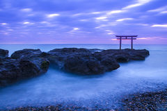 Shrine Gate at daybreak Royalty Free Stock Photography