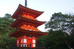The shrine for girls in Kyoto near Kiyomizu-dera Royalty Free Stock Photo