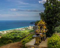 Shrine on the Hill Stock Photo