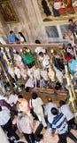 Shrine. Holy Sepulcher. Jerusalem. Stock Photo