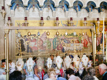 Shrine. Holy Sepulcher. Jerusalem. Royalty Free Stock Photos