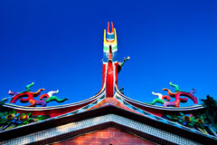 Shrine housetop. As blue sky stock photo