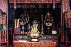 Shrine il cinese A-ma Temple dell'interno del dettaglio nella porcellana di Macao Fotografia Stock