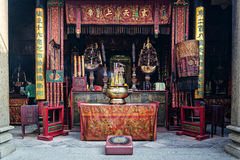 Shrine il cinese A-ma Temple dell'interno del dettaglio nella porcellana di Macao Immagini Stock