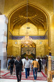 The shrine of Imam Abbas. Karbala, Iraq – May 30 2014: It is the shrine of great taste gilded dome and minarets, One of Shiite imams who is the brother of Imam Stock Images