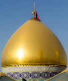 The shrine of Imam Abbas. Karbala, Iraq – May 30 2014: It is the shrine of great taste gilded dome and minarets, One of Shiite imams who is the brother of Imam Stock Photo