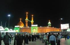 Shrine of Imam Hussain ibn Ali at night, Karbala Iraq Stock Image