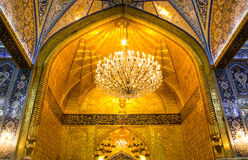 The shrine of Imam Hussein in Karbala. Karbala, Iraq – May 30 2014: The shrine of Imam Hussein, grandson of the Prophet Mohammed the Prophet of Islam, The Stock Photos