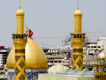 The shrine of Imam Hussein in Karbala Royalty Free Stock Photo