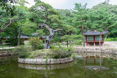 Shrine& impérial x28 de jardin traditionnel coréen ; Jongmyo& x29 ; de la dynastie de Chosun de la Corée photo libre de droits