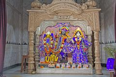 Shrine in ISKCON temple Stock Image