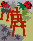 Shrine of Japan. This is the design of the Japanese shrine Royalty Free Stock Image