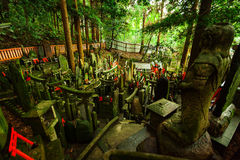 Shrine in a Japanese Forest Stock Photography