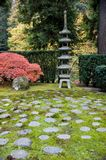 Shrine in a Japanese garden Royalty Free Stock Images