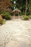 Shrine in Japanese zen garden Royalty Free Stock Images