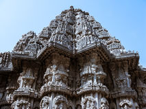 The Shrine of Keshava. The outside of one of the shrines of Keshava at the 13th Century temple of Somanathapur, Karnataka, South India royalty free stock photography