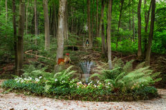 Shrine for Maria in the Forest of Bavaria Stock Photos