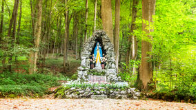 Shrine for Maria in the Forest of Bavaria. Shrine for the Virgin Maria in German Bavaria. Picture was taken on a warm high summer August evening Royalty Free Stock Photos