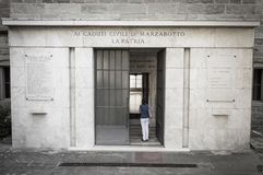 Shrine of Marzabotto Second World War victims Stock Image