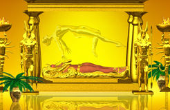 Shrine Of The Mummy. Entombed beneath the sands of enternity lays the golden shrine of an Egyptian queen long dead,but will rise again before the passing of our Stock Photography