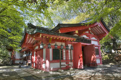 Shrine in Nara park, Japan. One of shinto shrine in Kasuga Taisha complex, Nara, Japan Royalty Free Stock Photos