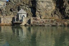 Shrine near Kura river in Tbilisi, Georgia Royalty Free Stock Image