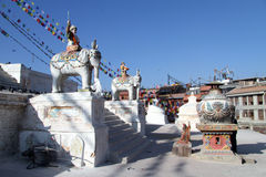 Shrine near stupa Stock Photography