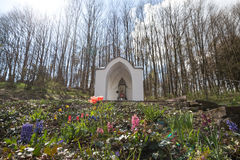 shrine next to the liebfrauen church westerburg germany Royalty Free Stock Images