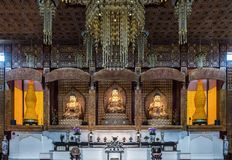 Free Shrine Of Main Hall At Hsi Lai Buddhist Temple, California. Royalty Free Stock Photography - 113516517