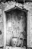 Shrine in old building, Sicily, Italy Royalty Free Stock Images