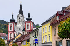 Shrine of Our Lady in city Mariazell, site of pilgrimage for catholics. Austria. Royalty Free Stock Photo