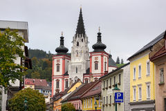 Shrine of Our Lady in city Mariazell, site of pilgrimage for catholics. Austria. Royalty Free Stock Photos