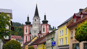 Shrine of Our Lady in city Mariazell, site of pilgrimage for catholics. Austria. Royalty Free Stock Image