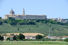 Shrine of Our Lady at Loreto on Marche Stock Images