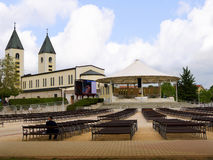 Shrine of Our Lady at Medjugorje in Bosnia Herzegovina Royalty Free Stock Photography