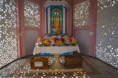 Shrine outside Santa Cruz Cathedral Basilica Church in Cochin In royalty free stock images