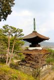Shrine over looking the city Stock Images