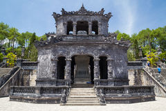 Shrine pavilion in Imperial Khai Dinh Tomb in Hue, Vietnam royalty free stock photography