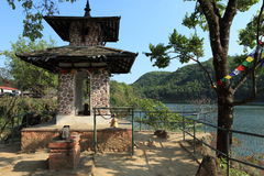 Shrine in Pokhara Royalty Free Stock Photo