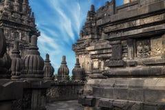 Shrine of Prambanan Hindu temple. Java, Indonesia stock images