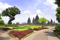 Shrine of Prambanan hindu temple, Yogyakarta, Java, Indonesia Royalty Free Stock Photo