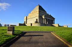 The Shrine of Remembrance Stock Image